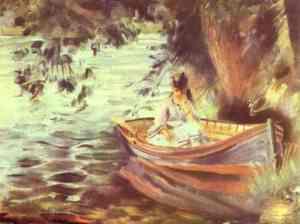 Woman in a Boat - renoir