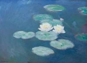 paintings-by-claude-monet- close-up water lilies