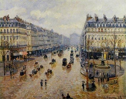 Avenue-de-lOpera-Rain-Effect-artist-Camille-Pissarro