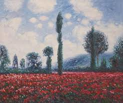 monet - field with trees