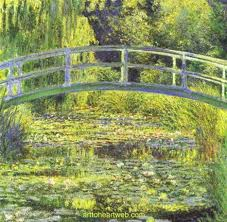 monet - water lily pond with bridge